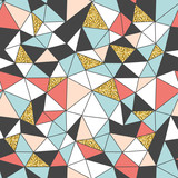 Fototapety Trendy abstract seamless pattern. triangle structure