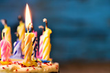 blowing out the candles of a cake - 109689491