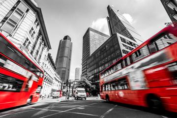 Fototapeta Londyn czerwone autobusy