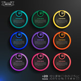 Fototapety Vector infographic design list with colorful circles.