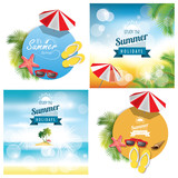 Summer background set