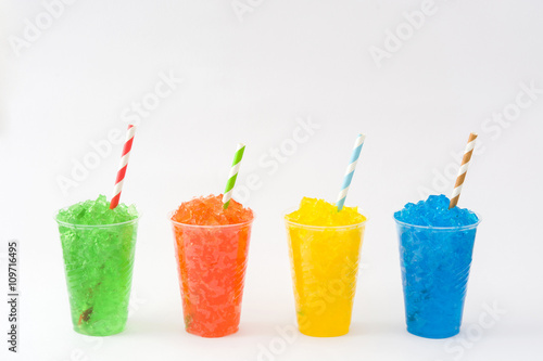 Fototapeta Colorful summer slushies