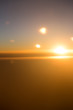 sunset view from the airplane - 109721666