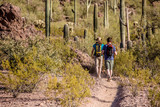Two Hikers on Rugged Trail
