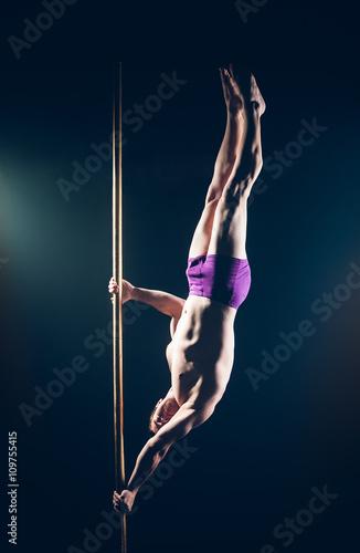 Pole Dance Male Athlete Poster