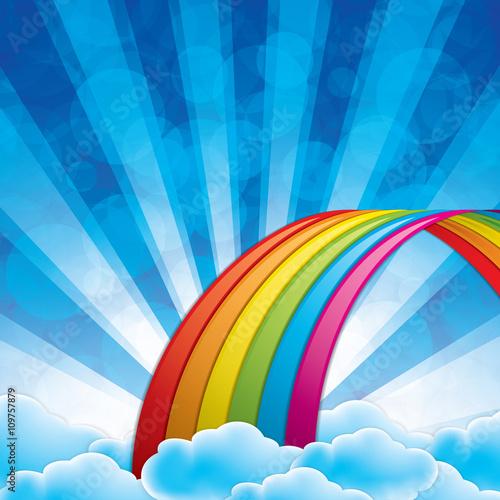 Staande foto Blauw Rainbow