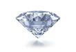 Leinwanddruck Bild - Diamant auf Weiss