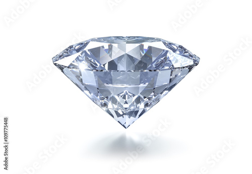 Leinwanddruck Bild Diamant auf Weiss