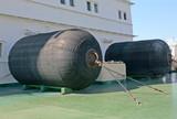 mooring fenders on the icebreaker deck