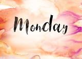 Monday Concept Watercolor Theme