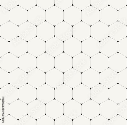 Simple clean modern volumetric hexagonal background - vector sea - 109800803