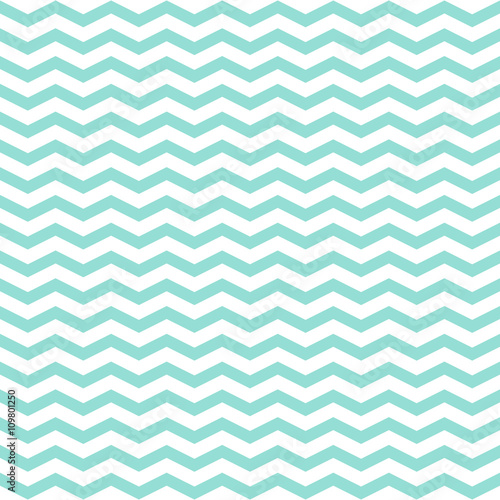 Simple modern trendy mint and white zigzag background - vector s - 109801250