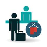 Hotel design. service icon. travel concept