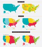 Fototapety United states. Standard time zones of united states. USA region