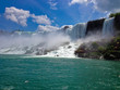 View of Niagara Falls with tourist