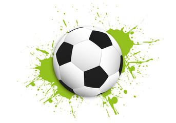 fototapeta piłka i zielony kleks