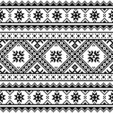 Traditional folk knitted red embroidery pattern from Ukraine or Belarus - 109872676
