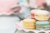 Fototapety Sweet Pastel Colored Macarons