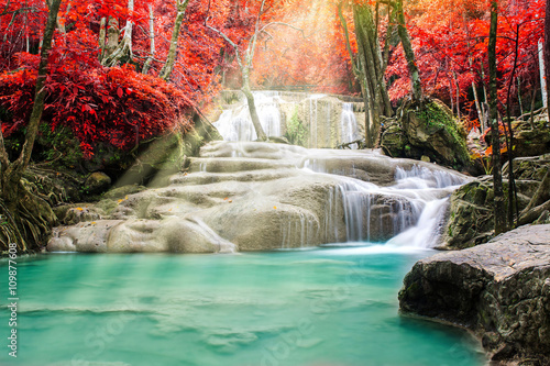 Beautiful waterfall - 109877608
