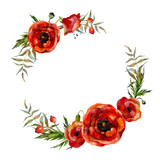 Watercolor floral wreath
