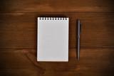 blank note pad