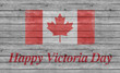Happy Victoria Day with Canada flag