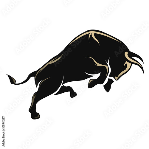 Angry Bull isolated