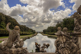 Caserta Palace Royal Garden,Italy (Campania). Sculptural group: The Fountain of Ceres..It is a former royal residence in Caserta constructed for the Bourbon kings of Naples.