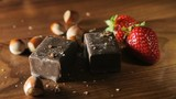Chocolate, strawberries and nuts