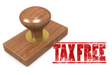Tax free wooded seal stamp
