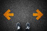 Walking direction on asphalt - 109969001