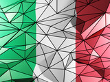 Triangle background with flag of italy