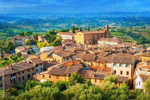 Deurstickers Toscane San Gimignano medieval town, Tuscany Italy.