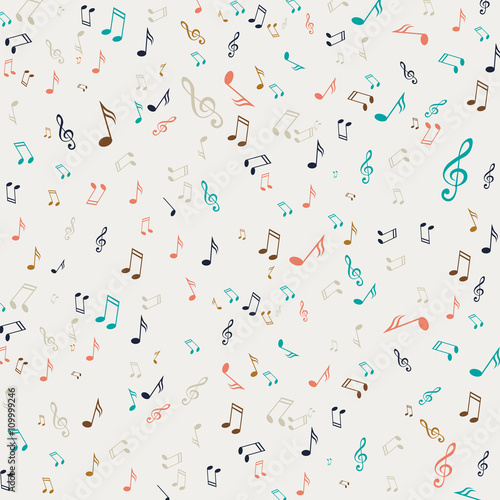 Fototapeta Vector Illustration of an Abstract Background with Music Notes