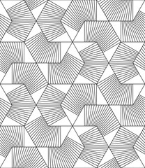 Vector seamless texture. Modern abstract background. Monochrome pattern with geometric figures.