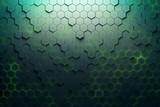 Green hexagon pattern