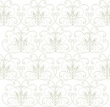 Seamless pattern, geometrically abstract floral texture, thin lines, vector illustration