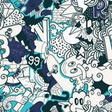 Graffiti colorful seamless pattern