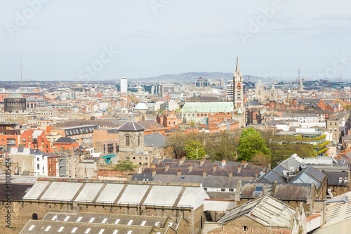Poster Aerial view of Dublin, Ireland