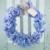 Blue hydrangea flower wreath - 110018273