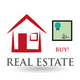 Real estate design. home concept. Property icon, vector illustration