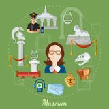 Museum tour guide science exposition ancient civilizations