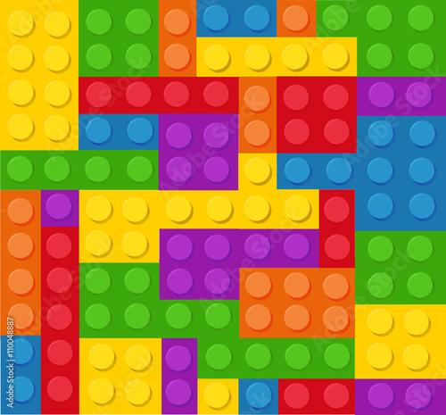 Plastic construction blocks vector illustration © nezezon