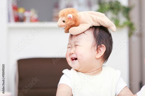 Poster かわいい赤ちゃん 笑顔