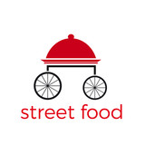 Vector abstract street food concept