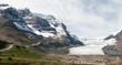 JASPER, ALBERTA/CANADA - AUGUST 9 : Athabasca Glacier in Jasper