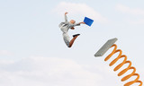 Woman in high jump