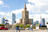 Warsaw street with Palace of Culture and Science - 110086812