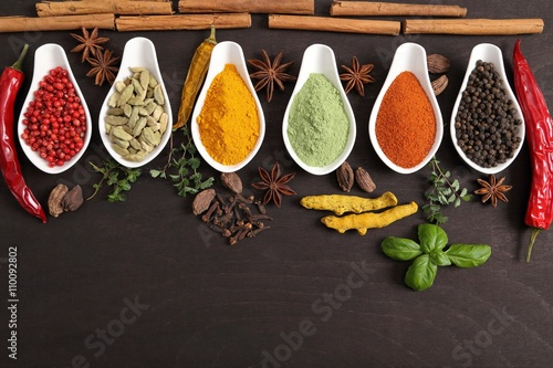 obraz lub plakat Spices and herbs.
