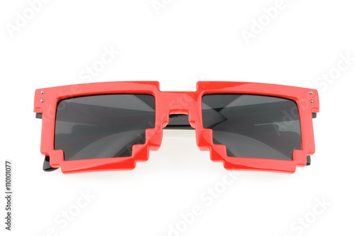 Pixel glasses isolated on white